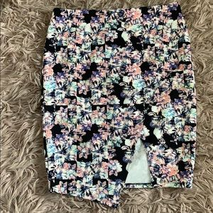 summer skirt with a slit 🌸